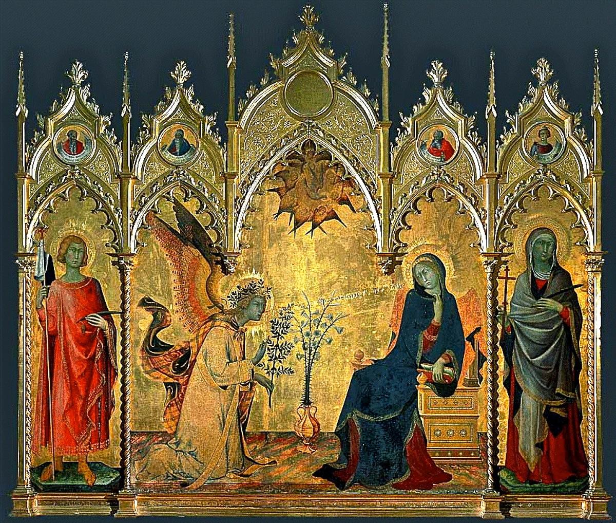 Fue Eduardo Crema (1892-1974) nuestro profesor de Historia del Arte, quien nos habló por primera vez de La Anunciación de Simone Martini ( 1284-1344)
