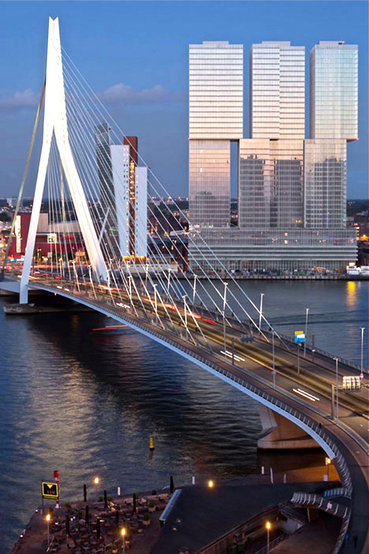 Un espectacular con peso propio: Rem Koolhas. Aquí el conjunto De Rotterdam (160.000 m2) inaugurado recientemente