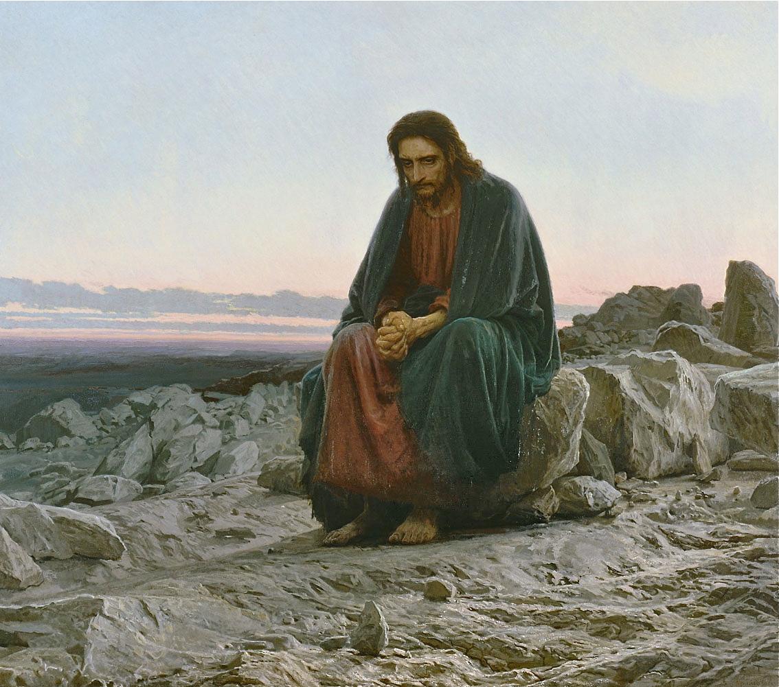 Cristo en el desierto por Iván Kramskoy (1837-1887)