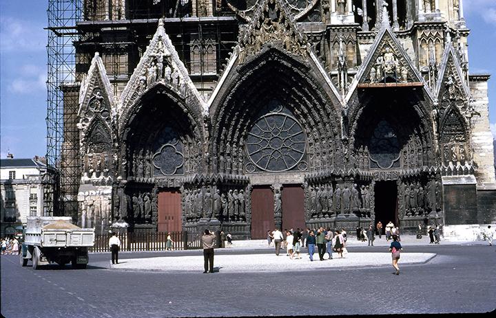 Foto de 1961, en Reims