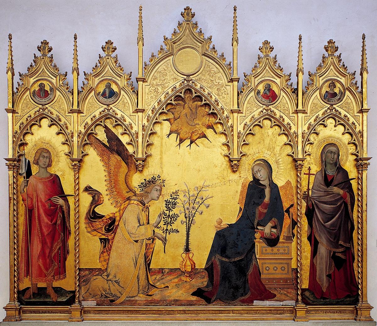 Retablo de la Anunciación de Simone Martini