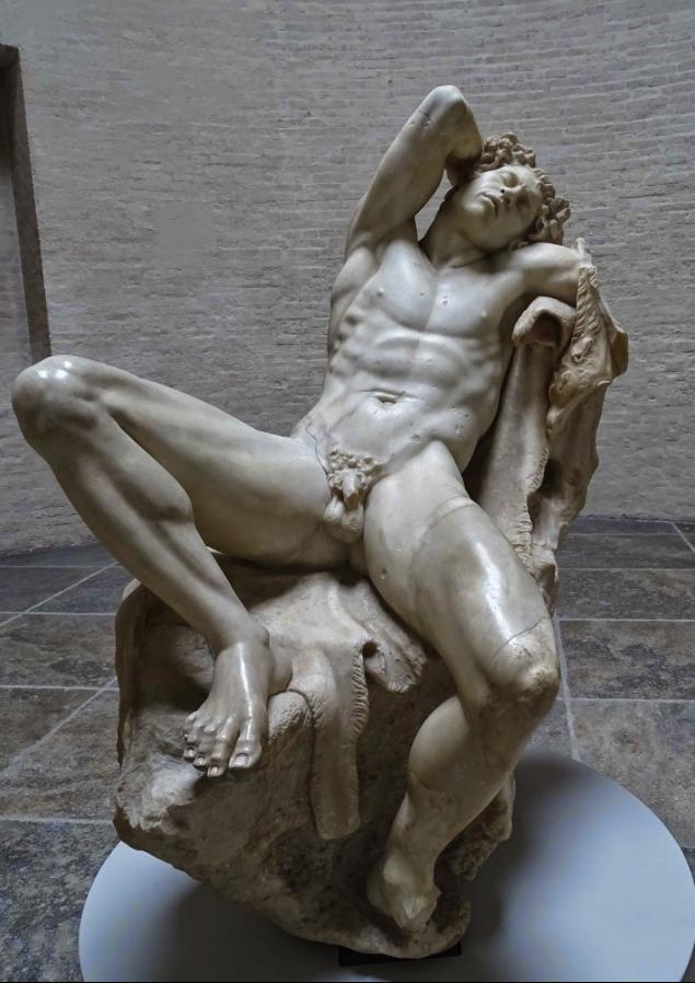 Fauno Barberini, escultura griega, en la Gliptoteca