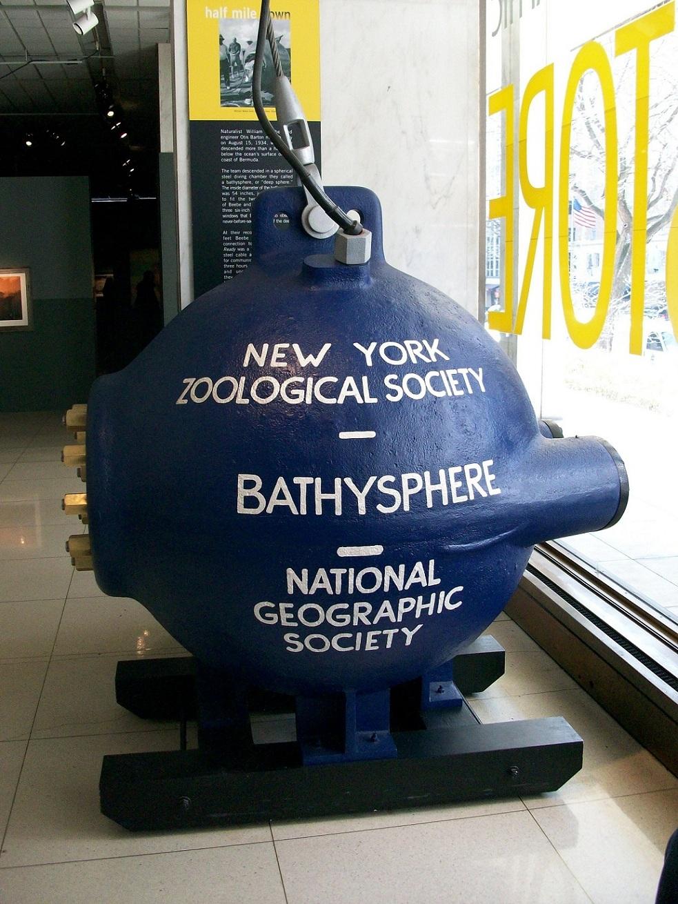 Batisfera de Charles William Beebe. 1934.