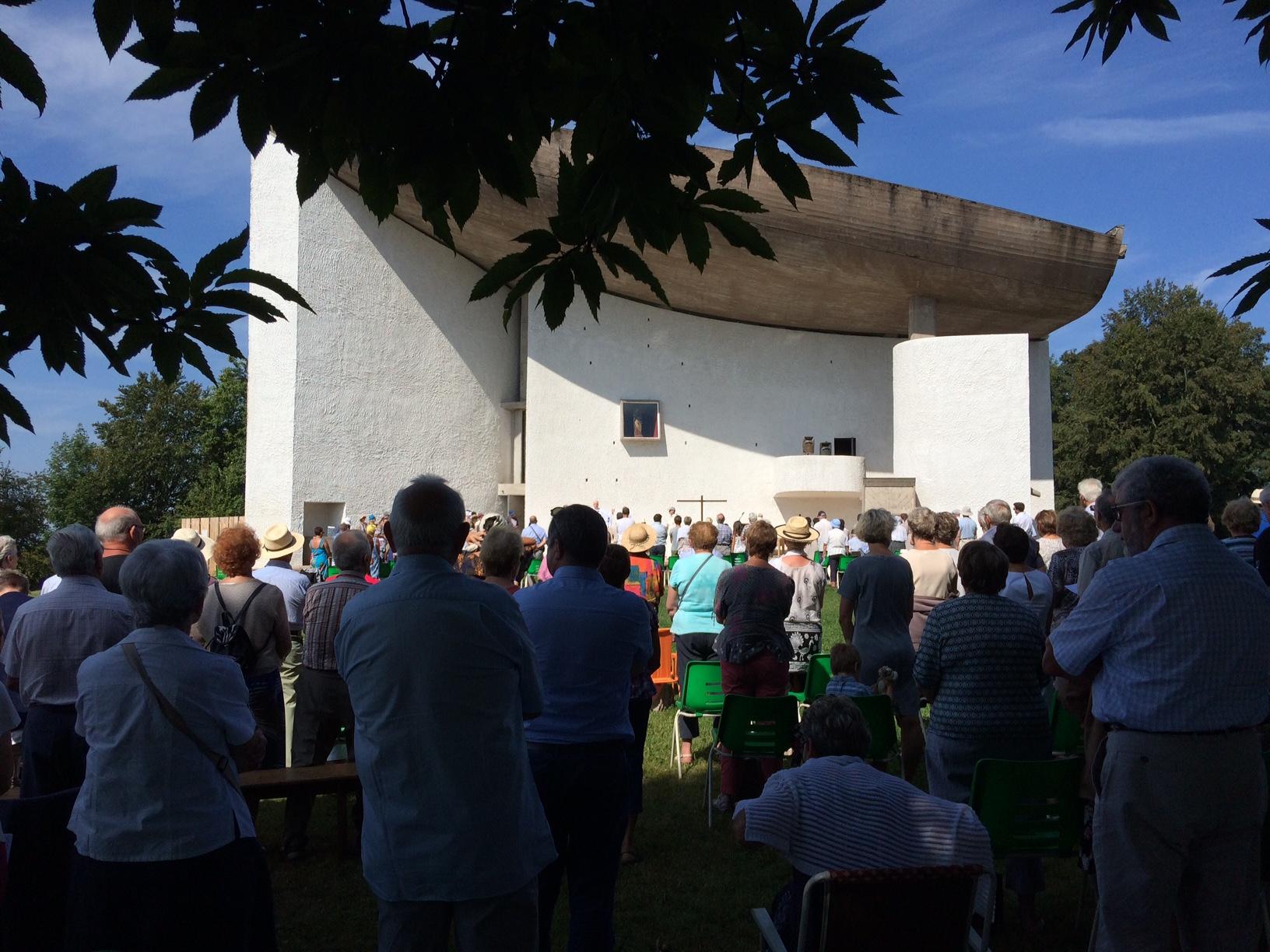 Notre Dame du Haut, Ronchamp, el pasado 15 de Agosto.