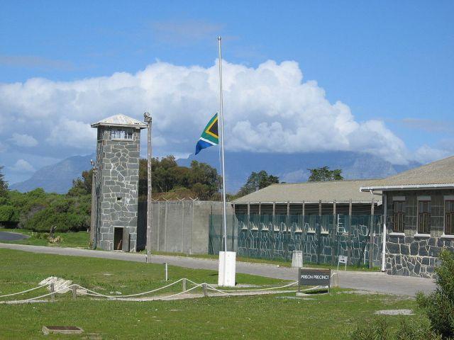 La prisión de Robben Island en Suráfrica, donde estuvo Nelson Mandela durante los primeros años de su prisión de 27 años